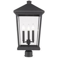 Z-Lite 568PHXLR-ORB Beacon 3 Light 24 inch Oil Rubbed Bronze Outdoor Post Mount