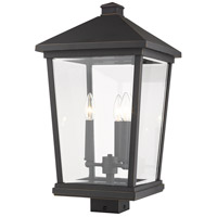 Z-Lite 568PHXLS-ORB Beacon 3 Light 22 inch Oil Rubbed Bronze Outdoor Post Mount Fixture