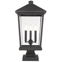 Z-Lite 568PHXLS-SQPM-ORB Beacon 3 Light 23 inch Oil Rubbed Bronze Outdoor Pier Mounted Fixture