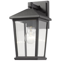 Z-Lite 568S-BK Beacon 1 Light 12 inch Black Outdoor Wall Sconce photo thumbnail