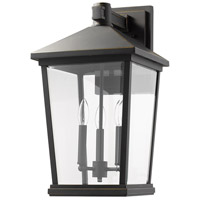 Z-Lite 568XL-ORB Beacon 3 Light 23 inch Oil Rubbed Bronze Outdoor Wall Sconce