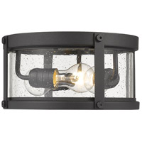 Z-Lite 569F-BK Roundhouse 3 Light 12 inch Black Outdoor Flush Ceiling Mount Fixture