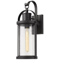 Z-Lite 569M-BK Roundhouse 1 Light 20 inch Black Outdoor Wall Sconce