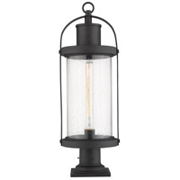 Z-Lite 569PHB-533PM-BK Roundhouse 1 Light 27 inch Black Outdoor Pier Mounted Fixture
