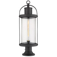 Z-Lite 569PHB-553PM-BK Roundhouse 1 Light 27 inch Black Outdoor Pier Mounted Fixture