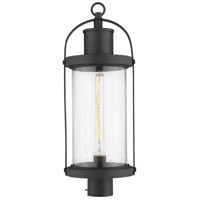 Z-Lite 569PHB-BK Roundhouse 1 Light 25 inch Black Outdoor Post Mount Fixture