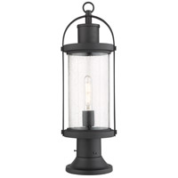 Z-Lite 569PHM-553PM-BK Roundhouse 1 Light 23 inch Black Outdoor Pier Mounted Fixture