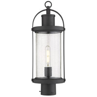 Z-Lite 569PHM-BK Roundhouse 1 Light 21 inch Black Outdoor Post Mount Fixture