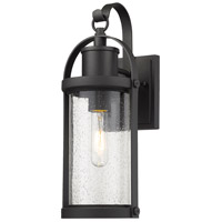 Z-Lite 569S-BK Roundhouse 1 Light 16 inch Black Outdoor Wall Sconce