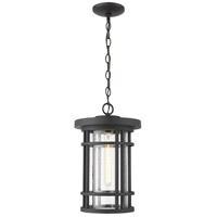 Z-Lite 570CHB-BK Jordan 1 Light 10 inch Black Outdoor Chain Mount Ceiling Fixture