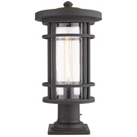 Z-Lite 570PHB-533PM-ORB Jordan 1 Light 20 inch Oil Rubbed Bronze Outdoor Pier Mounted Fixture