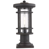 Z-Lite 570PHM-533PM-ORB Jordan 1 Light 17 inch Oil Rubbed Bronze Outdoor Pier Mounted Fixture