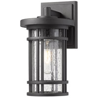 Z-Lite 570S-BK Jordan 1 Light 11 inch Black Outdoor Wall Sconce