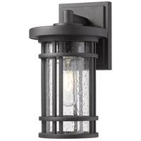 Z-Lite 570S-BK Jordan 1 Light 11 inch Black Outdoor Wall Sconce
