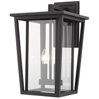 Z-Lite 571B-BK Seoul 2 Light 19 inch Black Outdoor Wall Sconce