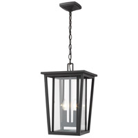 Z-Lite 571CHB-BK Seoul 2 Light 11 inch Black Outdoor Pendant
