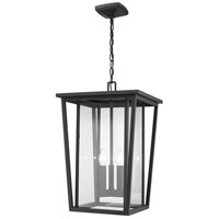 Z-Lite 571CHXL-BK Seoul 3 Light 14 inch Black Outdoor Pendant