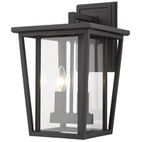 Z-Lite 571M-BK Seoul 2 Light 15 inch Black Outdoor Wall Sconce