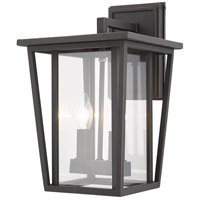 Z-Lite 571M-ORB Seoul 2 Light 15 inch Oil Rubbed Bronze Outdoor Wall Sconce