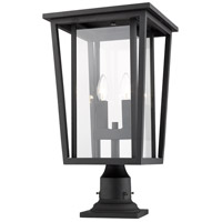 Z-Lite 571PHBR-533PM-BK Seoul 2 Light 22 inch Black Outdoor Pier Mounted Fixture
