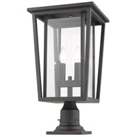 Z-Lite 571PHBR-533PM-ORB Seoul 2 Light 22 inch Oil Rubbed Bronze Outdoor Pier Mounted Fixture