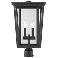 Z-Lite 571PHBR-BK Seoul 2 Light 20 inch Black Outdoor Post Mount Fixture