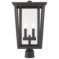 Z-Lite 571PHBR-ORB Seoul 2 Light 20 inch Oil Rubbed Bronze Outdoor Post Mount Fixture
