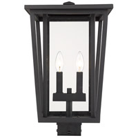 Z-Lite 571PHBS-BK Seoul 2 Light 18 inch Black Outdoor Post Mount Fixture