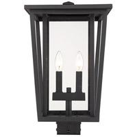Z-Lite 571PHBS-BK Seoul 2 Light 18 inch Black Outdoor Post Mount Fixture