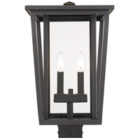 Z-Lite 571PHBS-ORB Seoul 2 Light 18 inch Oil Rubbed Bronze Outdoor Post Mount Fixture