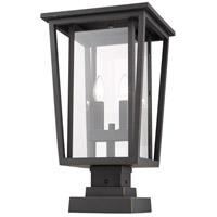 Z-Lite 571PHBS-SQPM-ORB Seoul 2 Light 21 inch Oil Rubbed Bronze Outdoor Pier Mounted Fixture