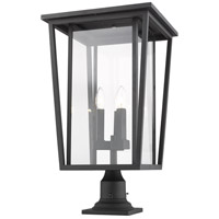 Z-Lite 571PHXLR-533PM-BK Seoul 3 Light 26 inch Black Outdoor Pier Mounted Fixture