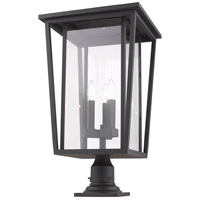 Z-Lite 571PHXLR-533PM-ORB Seoul 3 Light 26 inch Oil Rubbed Bronze Outdoor Pier Mounted Fixture