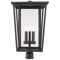 Z-Lite 571PHXLR-ORB Seoul 3 Light 24 inch Oil Rubbed Bronze Outdoor Post Mount