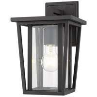 Z-Lite 571S-BK Seoul 1 Light 12 inch Black Outdoor Wall Sconce