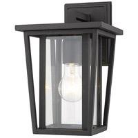 Z-Lite 571S-BK Seoul 1 Light 12 inch Black Outdoor Wall Sconce