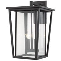 Z-Lite 571XL-BK Seoul 3 Light 23 inch Black Outdoor Wall Sconce