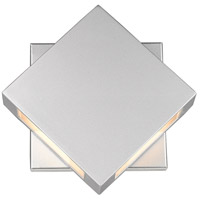 Z-Lite 572S-SL-LED Quadrate LED 9 inch Silver Outdoor Wall Sconce