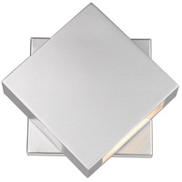 Z-Lite 573S-SL-LED Quadrate LED 9 inch Silver Outdoor Wall Sconce photo thumbnail