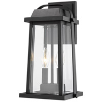 Z-Lite 574M-BK Millworks 2 Light 14 inch Black Outdoor Wall Sconce photo thumbnail