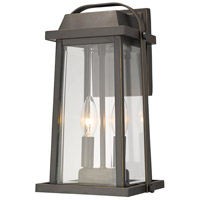 Z-Lite 574M-ORB Millworks 2 Light 14 inch Oil Rubbed Bronze Outdoor Wall Sconce