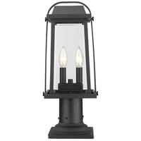 Z-Lite 574PHMR-533PM-BK Millworks 2 Light 19 inch Black Outdoor Pier Mounted Fixture