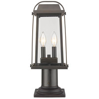 Z-Lite 574PHMR-533PM-ORB Millworks 2 Light 19 inch Oil Rubbed Bronze Outdoor Pier Mounted Fixture in 5.25