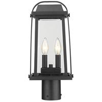 Z-Lite 574PHMR-BK Millworks 2 Light 17 inch Black Outdoor Post Mount Fixture in 5