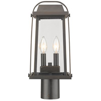 Z-Lite 574PHMR-ORB Millworks 2 Light 17 inch Oil Rubbed Bronze Outdoor Post Mount Fixture in 5