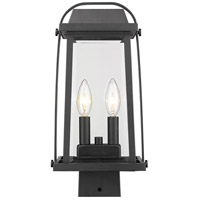 Z-Lite 574PHMS-BK Millworks 2 Light 15 inch Black Outdoor Post Mount Fixture