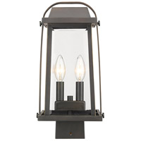 Z-Lite 574PHMS-ORB Millworks 2 Light 15 inch Oil Rubbed Bronze Outdoor Post Mount Fixture