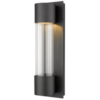 Z-Lite 575S-BK-LED Striate LED 17 inch Black Outdoor Wall Sconce