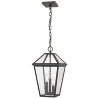 Z-Lite 579CHB-ORB Talbot 3 Light 10 inch Rubbed Bronze Outdoor Chain Mount Ceiling Fixture in Seedy Glass