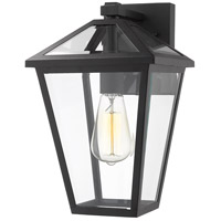 Z-Lite 579M-BK Talbot 1 Light 13 inch Black Outdoor Wall Sconce in Clear Beveled Glass